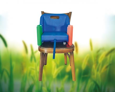 Het zorgvrij vakantiedomein La Grande Roche beschikt ook over een stoelverhoger voor de kleinsten