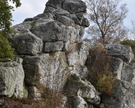 La Grande Roche heeft zijn naam te danken aan de indrukwekkende rots op het domein