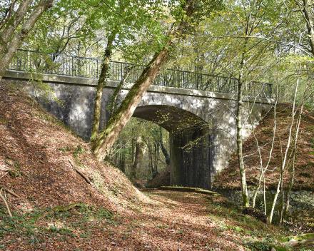 Op vele plaatsen in het domein La Grande Roche kan je vanop een bankje genieten van de rust en natuur